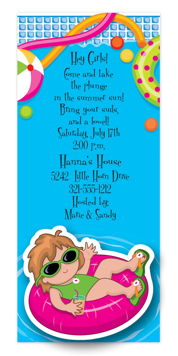 71 best Pool Party Invitations images on Pinterest | Get ready ...