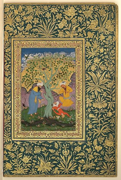 """ca. 1560 painting by Aqa Riza 