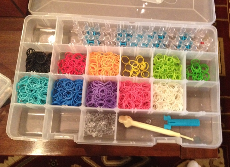 Ultimate Rainbow Loom Organizer Kids Crafts Pinterest