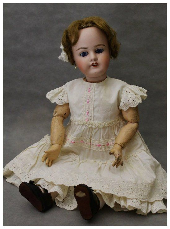 Bisque Head Doll Limoges France Jb 22 Inches Fabulous French