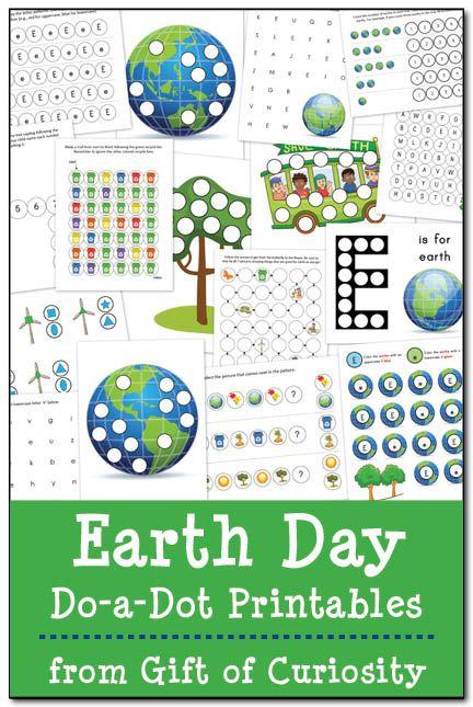 Earth Day Do-a-Dot Printables #DoADot #EarthDay || Gift of Curiosity