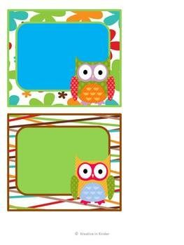 Owl Classroom Decor Set for Back to School