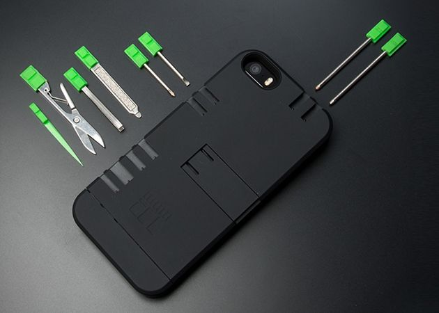 Étui (coque) pour iPhone qui fait office de couteau Suisse | Swiss army knife iPhone Case
