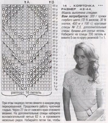 Вязание кофточки спицами