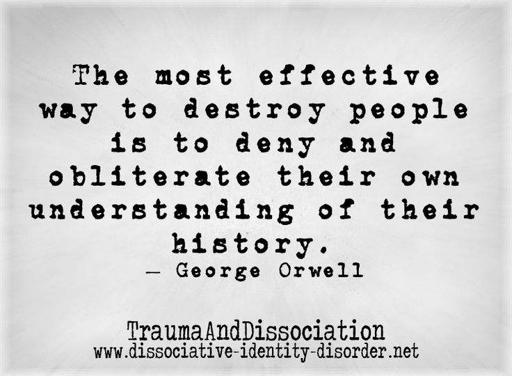 Why I hate school; they teach fake history! George Orwell talks about how re-writing history destroys people, from our blog on repressed (recovered) memories http://traumadissociation.wordpress.com/2013/11/29/repressedmemory/