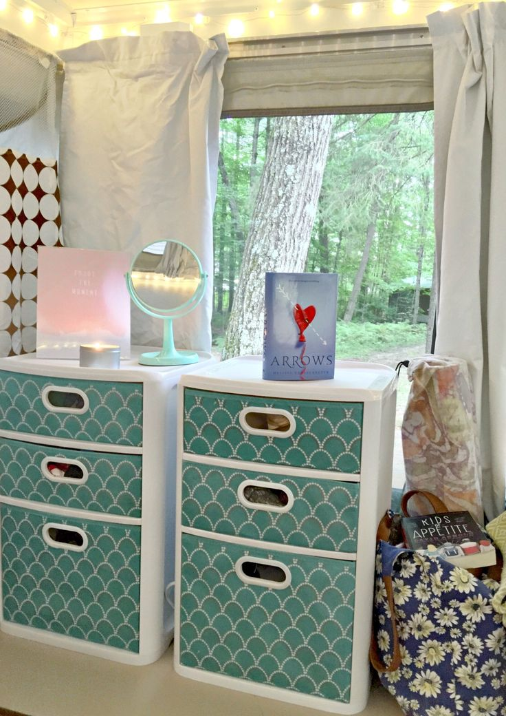 Author Melissa Gorzelanczyk shares her inspiration for a pop up camper makeover, which she plans to use for creative retreats.