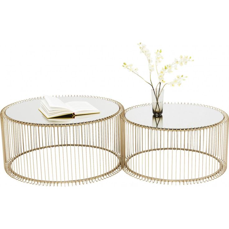 Set De 2 Tables Basses Dore Wire 3 Suisses