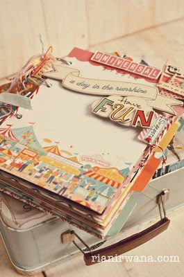 Ria Nirwana's Home #album #scrapbook #scrapbooking #holiday #summer #DIY #handmade #Fun #Universal #Singapore #Art