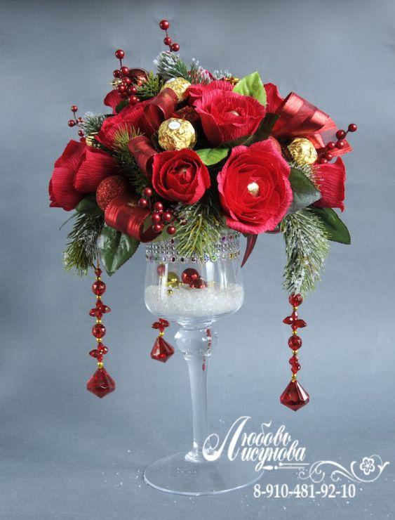 (3) Gallery.ru / Фото #66 - новогодний букет из конфет - candybuket