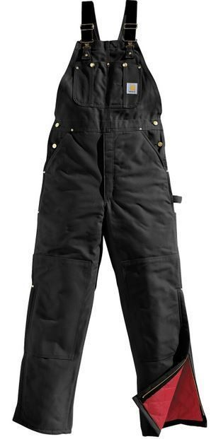 Carhartt Men's Insulated Bib Overall - Black #CarharttMensInsulatedBibOverallBlack