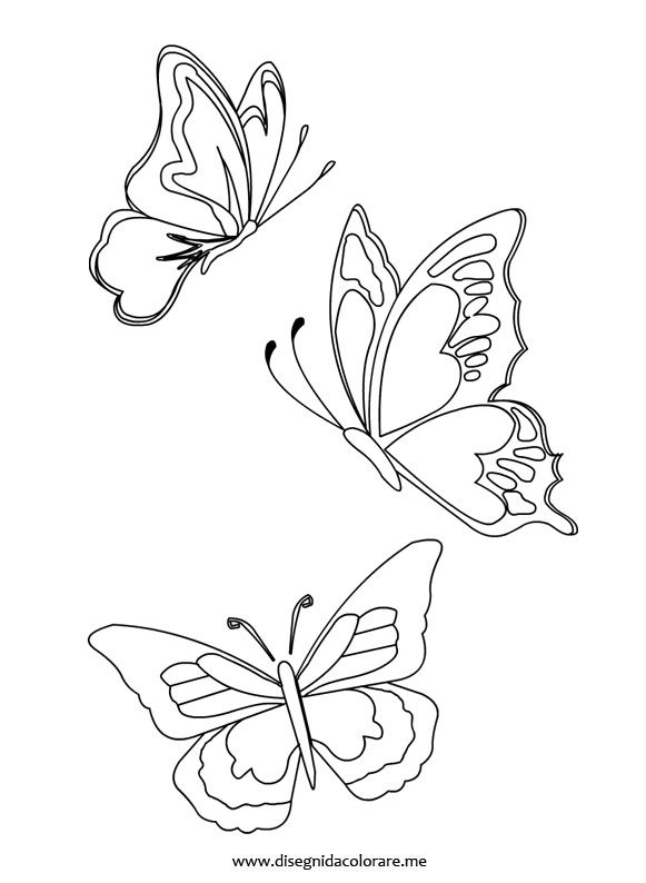 Farfalle Pittura A Farfalla Disegni Da Colorare Ricamo Farfalle