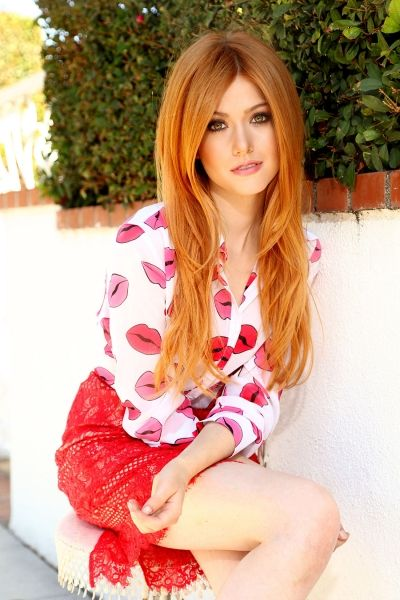 Redhead open blouse