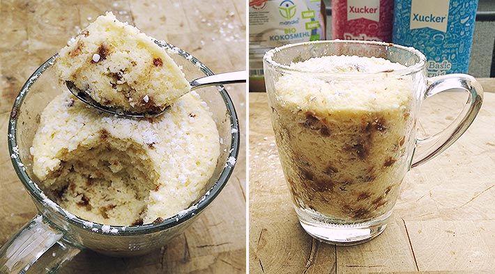 Low Carb Rezept für ein Low-Carb Mugcake-Grundrezept (aus der Mikro). Wenig Kohlenhydrate und einfach zumNachkochen.Super für Diät/zum Abnehmen.