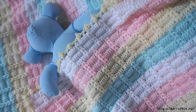 Tejido colcha de bebe......Modelo de los niños de tela escocesa con magníficas columnas (3) (640x366, 213KB)