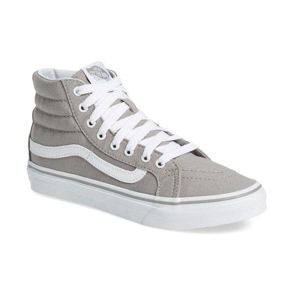 Women's Vans 'sk8-Hi Slim' Sneaker ($55) ❤ liked on Polyvore featuring shoes, sneakers, vans shoes, vans footwear, vans trainers, slim shoes and vans sneakers