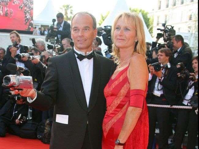 Laurent Baffie et sa femme Sandrine lors de la montée des marches pour la clôture du 60ème Festival ... - BestImage
