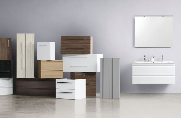 Your bathroom dreams are individual to you. Our modules start from widths of 40 cm and continue in 20 centimetre intervals up to 120 cm. So just make your choice!
