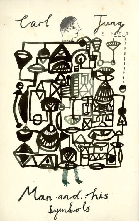 kat frank;    A cover design for Man and his symbols by Carl Jung.