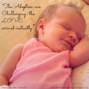 The #Adoption was challenging
