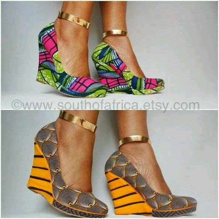 AFRICAN Wedge Heels