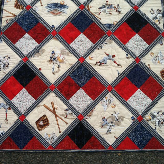 32 best Baby Brantley Quilt images on Pinterest | Baseball, Yards ... : baseball fabric for quilting - Adamdwight.com