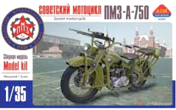 PMZ-A-750 Soviet Motorcycle with Machine Gun 1/35 Aim Fan Model