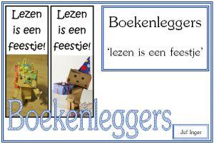 Boekenleggers 'Lezen is een feestje' - Juf Inger