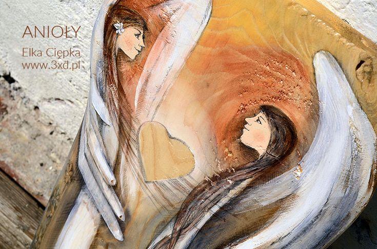 Anioły Wielkiego Serca | Oryginalne i niepowtarzalne Anioły ręcznie malowane na drewnie | www.anielska-pracownia.pl