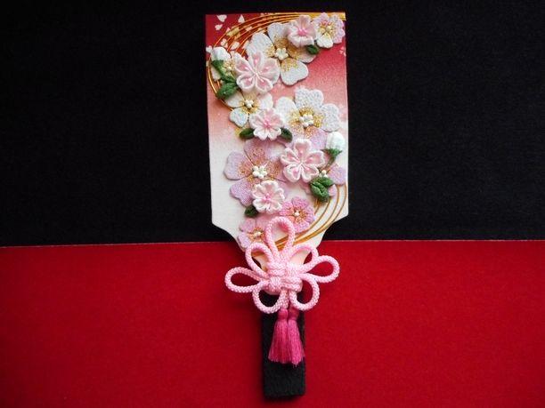 小さい羽子板 桜 【送料無料】 画像1