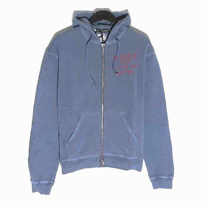 [G228]ディースクエアード/DSQUARED2/74HG0004 S25030 477/メンズ/ジップアップ/パーカー/スウェットシャツ/スウェットジャケット/Tシャツ/ブルー系