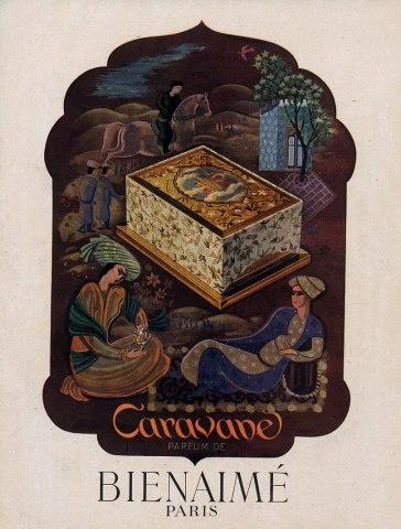 Bienaimé Perfumes Caravane Orientalism Oriental, 1945