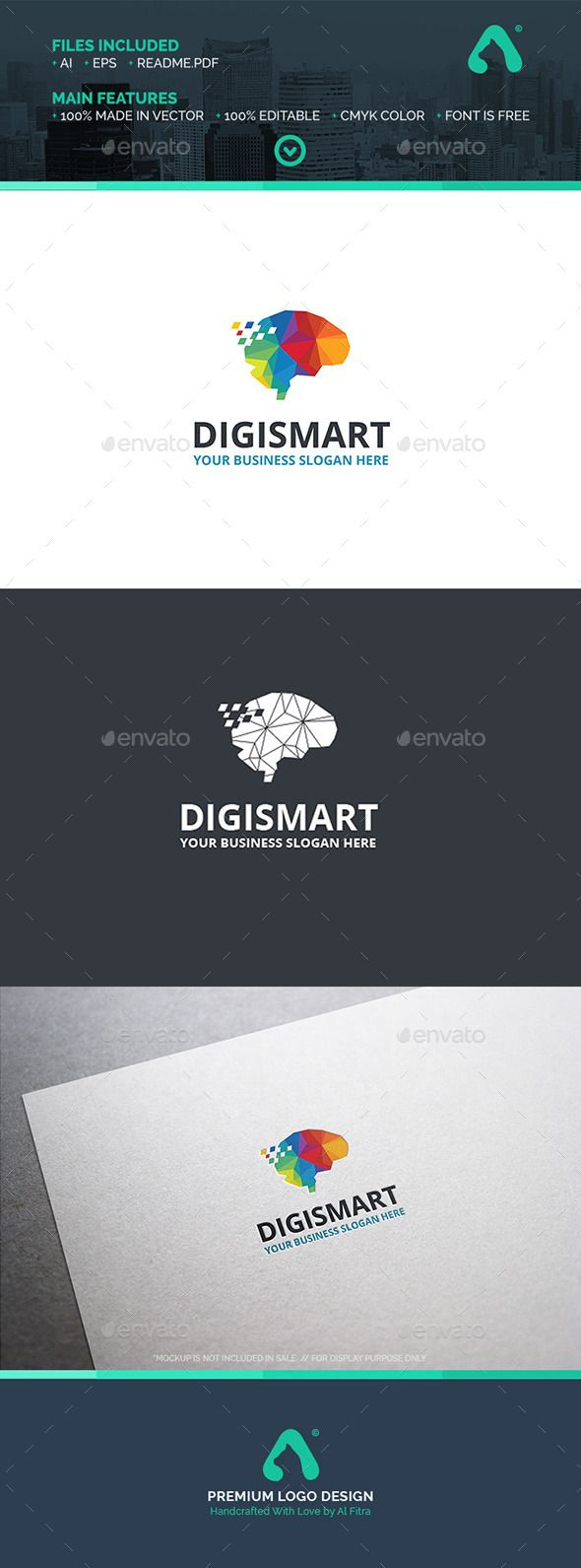 Digi Smart Logo Template — Vector EPS #logo #company • Available here → https://graphicriver.net/item/digi-smart-logo-template/11939477?ref=pxcr
