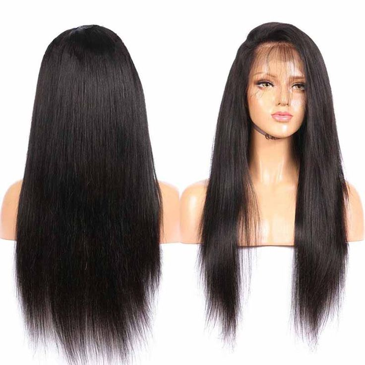 Passion Lace Front Human Hair Wigs For Black Women 150% Density Virgin Brazilian Straight Lace Wig With Baby Hair Around