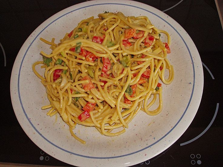 Spaghettisalat mit Chinagewürz (Rezept mit Bild)   Chefkoch.de