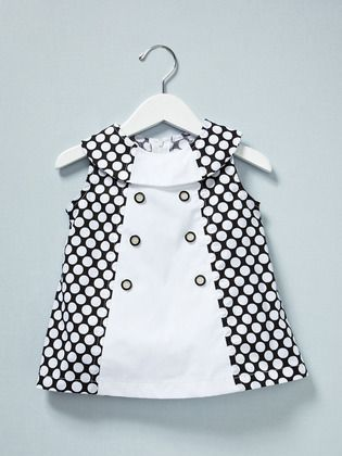 Mod little dress. Wonder where I can buy white go-go boots for a 3 year old??