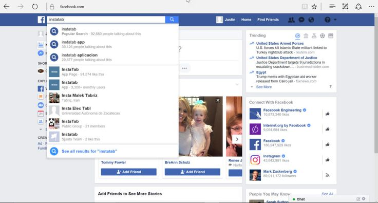 1 search for app INSTALL FACEBOOK APPS
