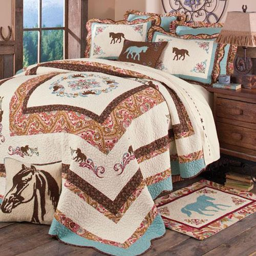 GIRLS TURQUOISE WESTERN ROOM | Cowgirl Decor, Cowgirl Bedding, Western Sheets, Cowgirl Comforters and ...