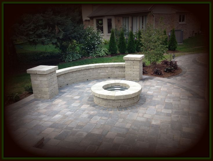 Best 25+ Paver fire pit ideas on Pinterest | Fire pit with ...