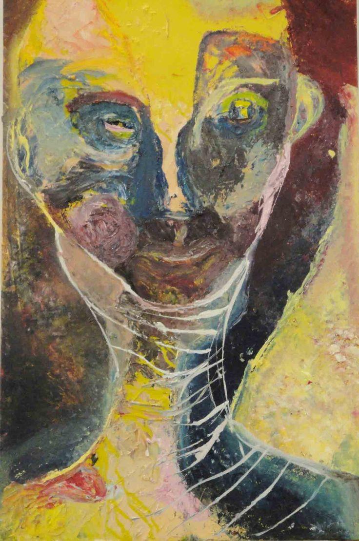 Jennifer Sulaj - Strangers Face -50cm x 85cm h Oils on Canvas $950
