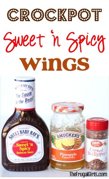 Crockpot Sweet and Spicy Wings Recipe from TheFrugalGirls.com