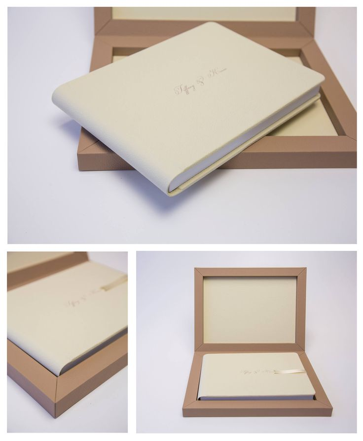 Leather  Youngbook with curved spine in #cream tones. #graphistudio #youngbook #weddingbook