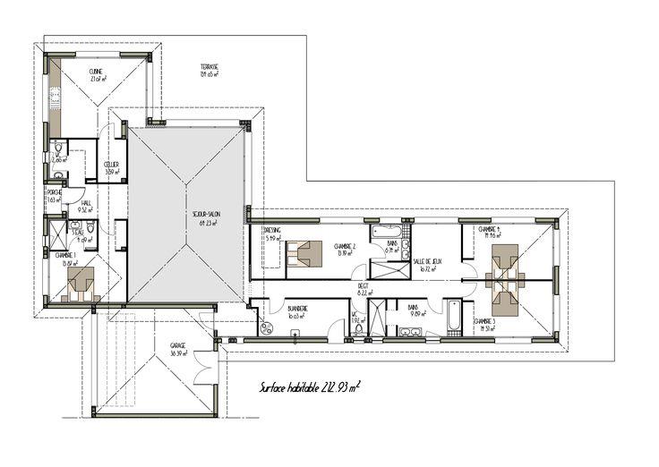 Les 32 meilleures images du tableau plans de maisons sur for Plan grande maison moderne