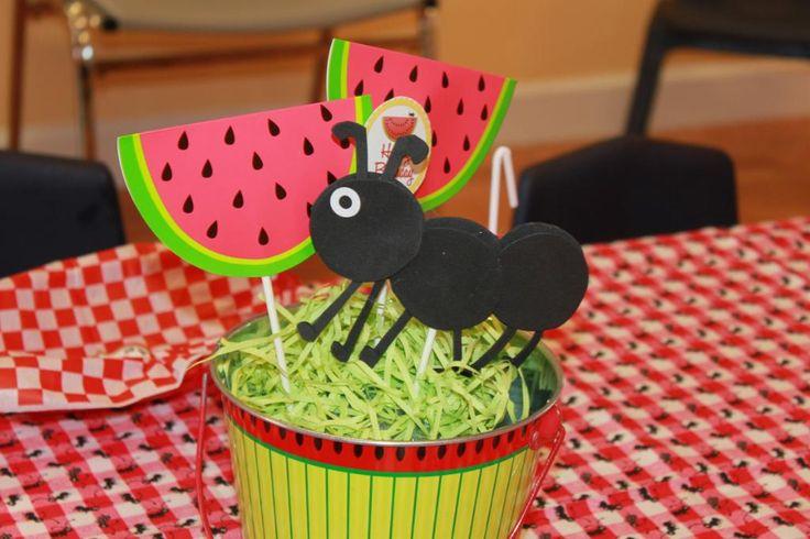 watermelon card and foam ants.