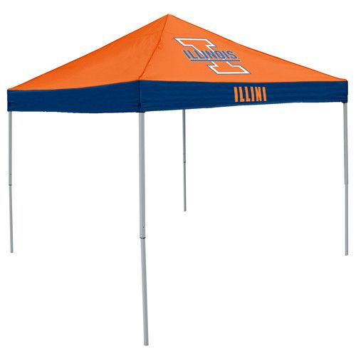 Illinois Fighting Illini NCAA 9' x 9' Economy 2 Logo Pop-Up Canopy Tailgate Tent