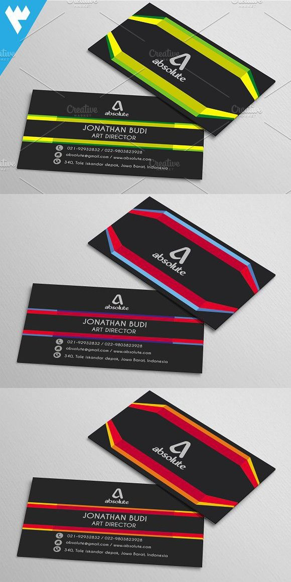 Modern Creative Line Business Card With Images Business Cards