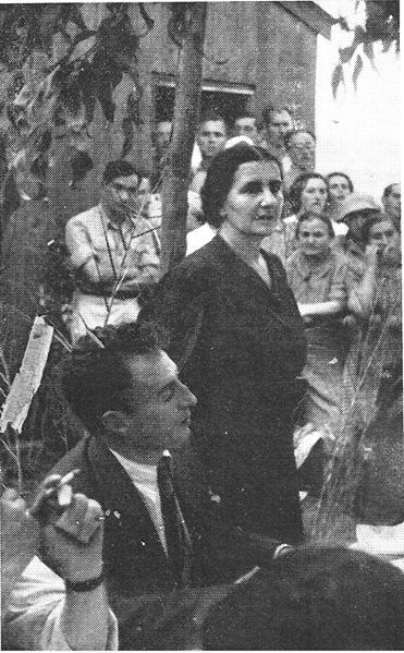Golda Meir, 1943.  Future President of Israel.