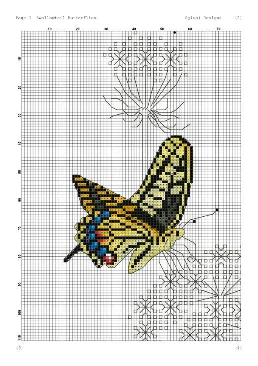 Gallery.ru / Фото #10 - Ajisai Designs - Swallowtail Butterflies - tymannost