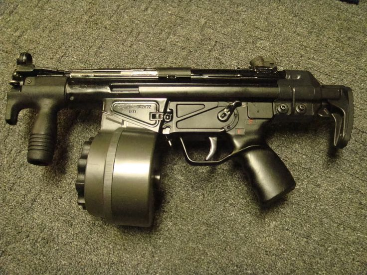 Heckler Koch 53 with 100 round C-MAG magazine. Cyclic rates of 800…