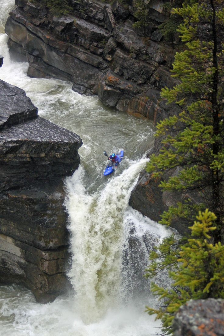 Fraser Valley Whitewater #kayaking 30-foot drop