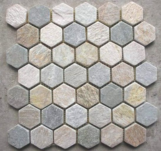 Hexagonal Tiles Hexagon Mosaic Tile China Slate Pattern